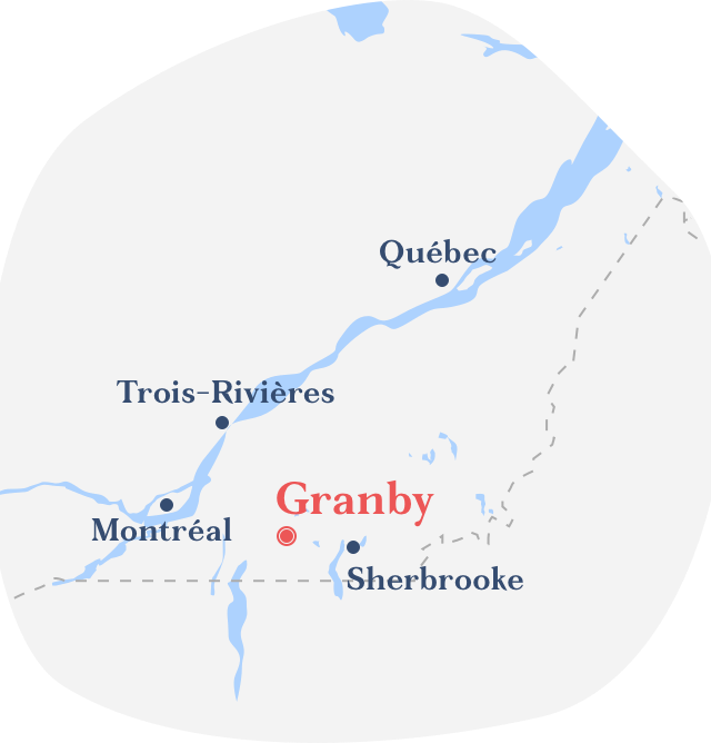 Map Granby direction