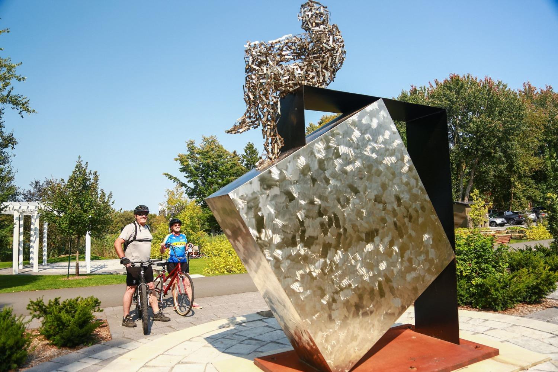 Estriade et Artria, vélo, nature, cyclisme, cycliste, art